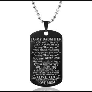 Jewelry - To My Son Daughter Military Necklace